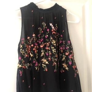 Anthopology floral tank blouse